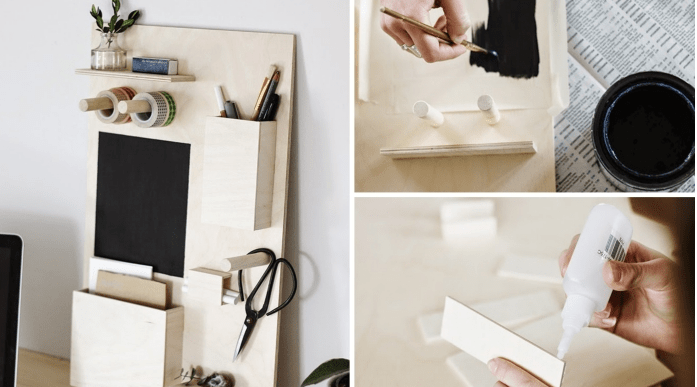 Enhance your work or study with a DIY office organizer